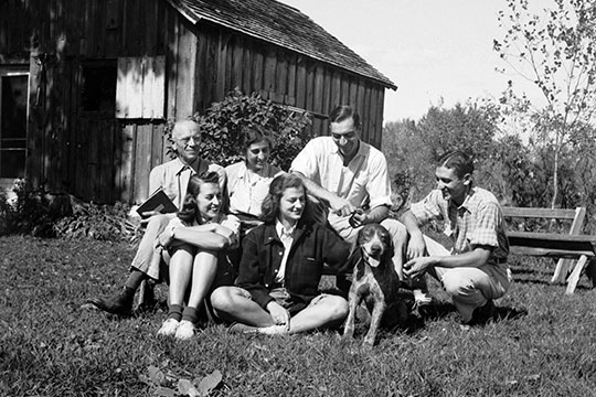 Aldo Leopold and his family