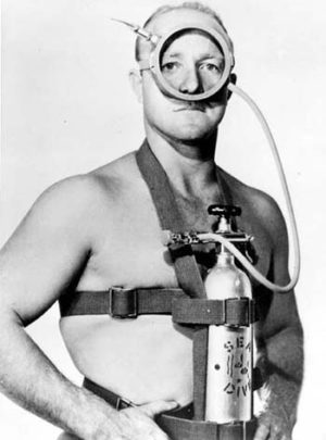 Bruce Wright as WWII frogman